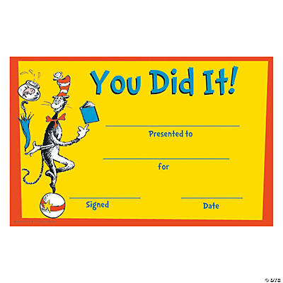 Dr. Seuss™ You Did It! Certificates