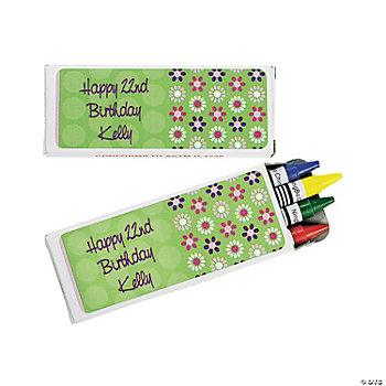 12 Personalized Darling Daisy Crayon Boxes