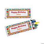 12 Personalized Kaleidoscope Crayon Boxes