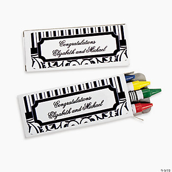 Personalized Black & White Crayon Boxes