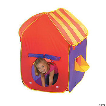 Striped Pop-Up Tent