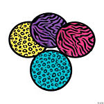 Neon Animal Print Flying Disks