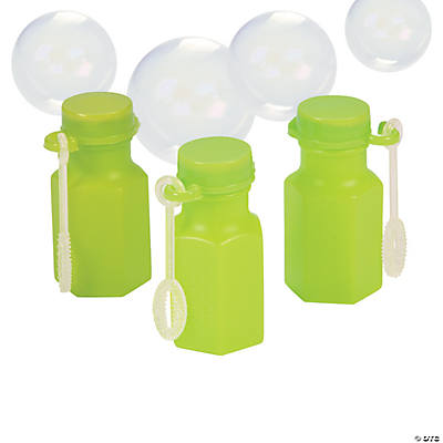 Mini Hexagon Lime Green Bubble Bottles