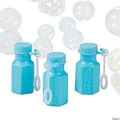 Mini Hexagon Light Blue Bubble Bottles