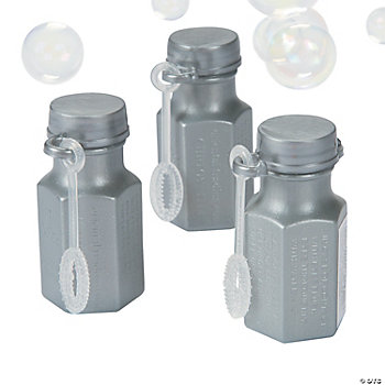 Mini Hexagon Silver Bubble Bottles