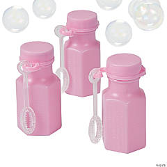 Mini Hexagon Pink Bubble Bottles
