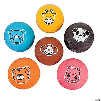 Animal Face Playground Balls