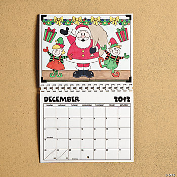 Color Your Own 2012 Calendar