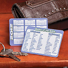 "2012 ""Books of the Bible"" Calendar Wallet Cards"
