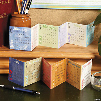 2012 Accordion Desk Calendars