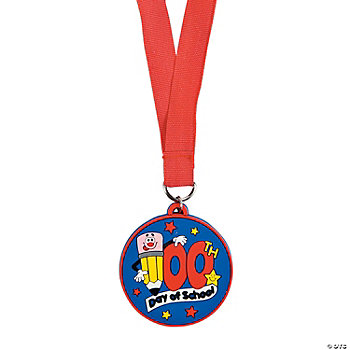 "12 ""100th Day Of School"" Medals"