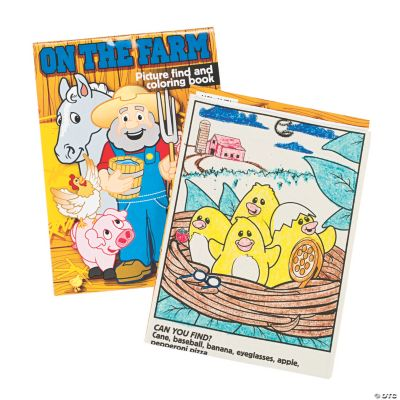 """""""On the Farm"""" Picture Find & Coloring Books"""