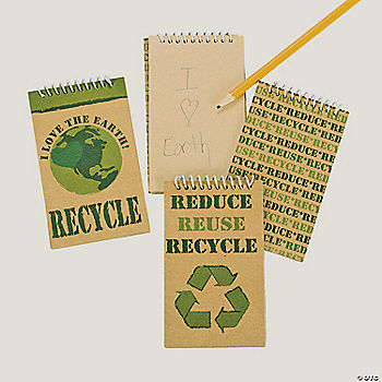 Reduce reuse recycle kraft paper spiral notebooks for Reduce reuse recycle crafts
