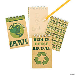 """Reduce/Reuse/Recycle"" Kraft Paper Spiral Notebooks"