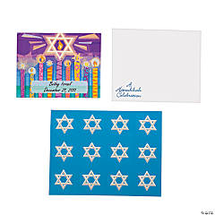 Personalized Hanukkah & Menorah Cards