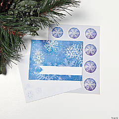 Blue & White Snowflake Cards
