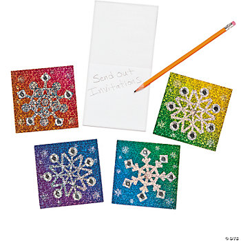Prismatic Snowflake Notepads With Gems