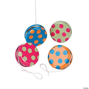 Bright Polka Dot Yo-Yos