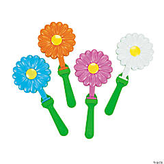 Plastic Daisy-Shaped Hand Clappers