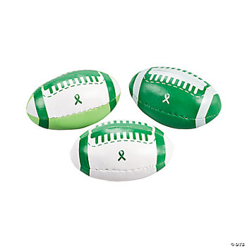Green Awareness Ribbon Footballs