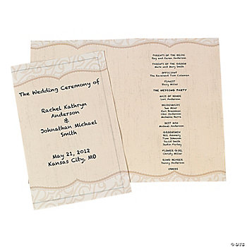Rustic Western Wedding Programs