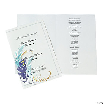 Peacock Wedding Programs