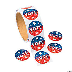 "100 ""Vote"" Roll Stickers"