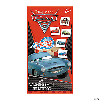 Cars® Valentine Cards With Tattoos