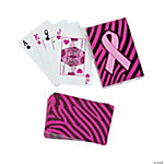 Sassy Pink Ribbon Playing Cards