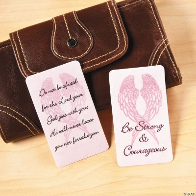 Pink Ribbon Wings Prayer Cards