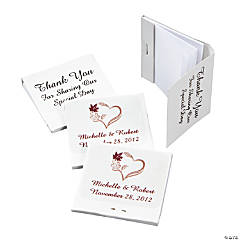 Personalized Fall Wedding Matchbook Notebooks