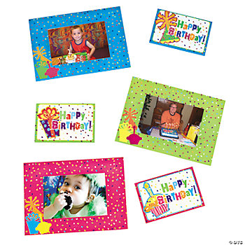 """Happy Birthday!"" Magnetic Photo Frames"