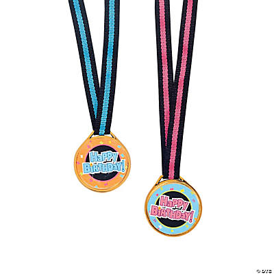"""Happy Birthday!"" Medals"