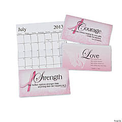 2013 - 2014 Pink Ribbon Pocket Planners