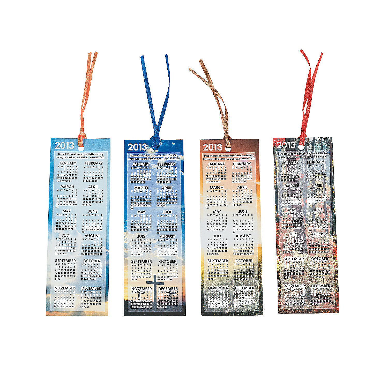 Calendar Bookmark : Religious calendar bookmarks oriental trading