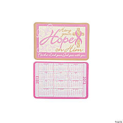 2013 Pink Ribbon Religious Wallet Card Calendars