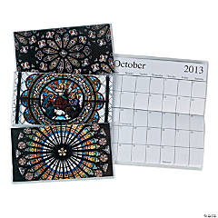 2013 - 2014 Stained Glass Pocket Planners
