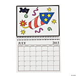 Color Your Own 2013 Calendar