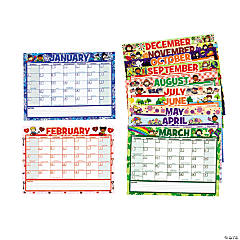 Dry Erase 2013 Monthly Calendar Sheets