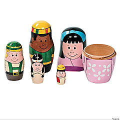 Around The World Nesting Dolls