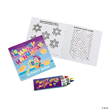 Hanukkah Activity Booklets With Crayons