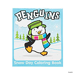 Penguin Coloring Books With Winter Story