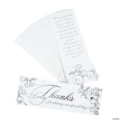 Wedding Appreciation Cards