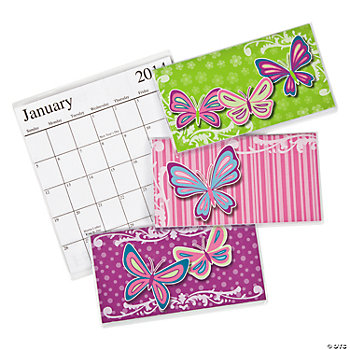 2013 - 2014 Social Butterfly Pocket Planners