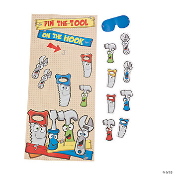 Pin The Tool On The Hook Game