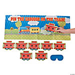 Pin The Caboose On The Train Game