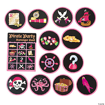 Pink Pirate Scavenger Hunt Game