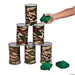 Camouflage Barrel Bean Bag Toss Game