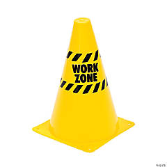 """Work Zone"" Traffic Cones"