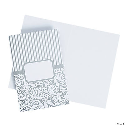 Silver Swirl Wedding Programs